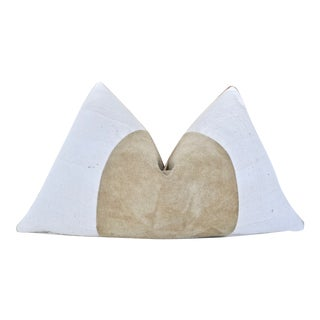 Tribal Fragments Identity Italian Suede & Mud Cloth Pillow For Sale