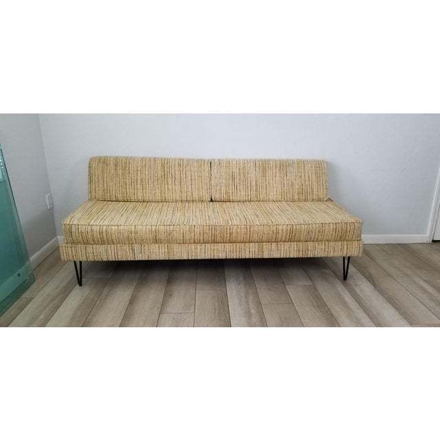 This incredible highly collectible Mid-Century Modern convertible daybed sofa was designed by George Nelson and...
