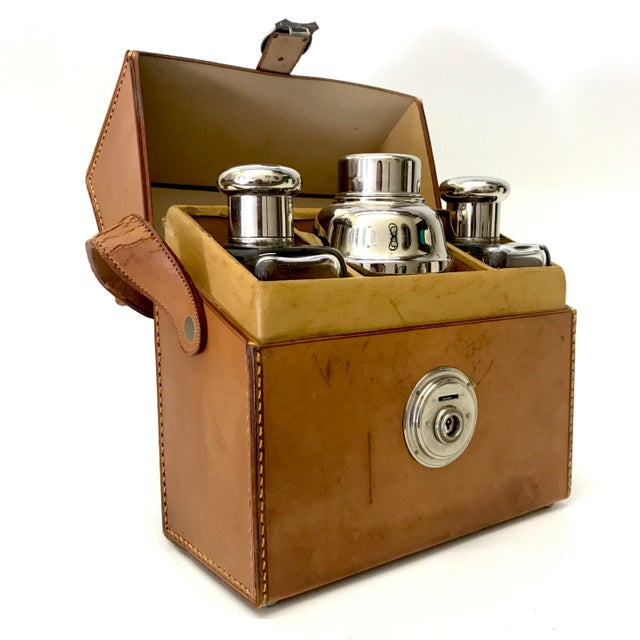 German Flask & Shaker Set Leather Case - Image 3 of 7