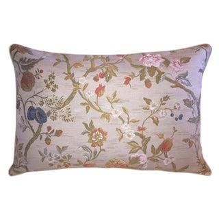 Scalamandre/Old World Weavers Giardino Paradisio Lampas Bolster Pillow For Sale