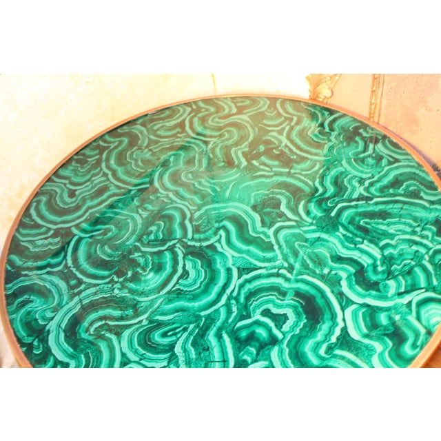 20th Century Regency Faux Painted Malachite Table For Sale - Image 4 of 7