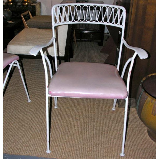 1950s Tempestini for Salterini Wrought Iron Ribbon Chairs - Set of 14 For Sale - Image 5 of 10
