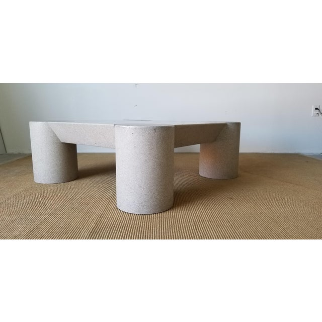 1980s Karl Springer Style Italian Postmodern Coffee Table For Sale - Image 4 of 10