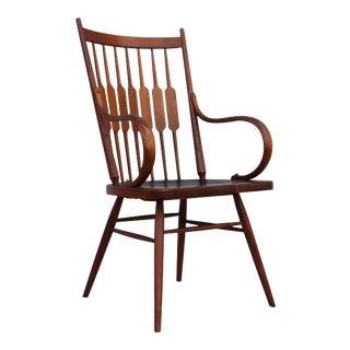 Kipp Stewart for Drexel Walnut Armchair For Sale