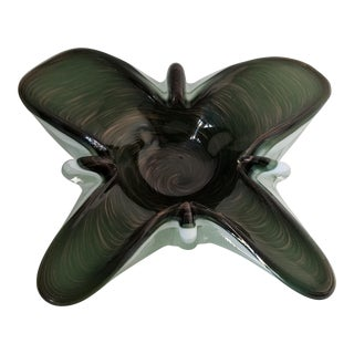 Toso Murano Butterfly Ashtray For Sale