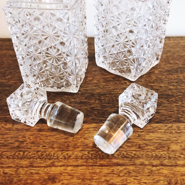 Glass Decanters, Set of 2 For Sale In Austin - Image 6 of 8