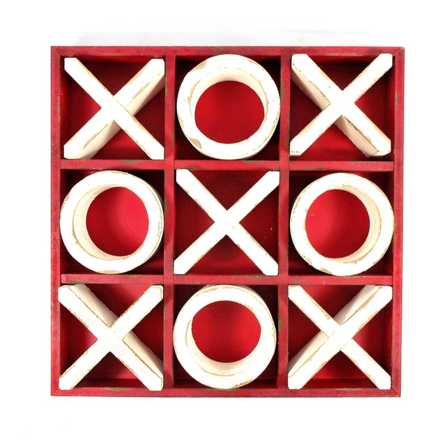 Rustic Wood Tic Tac Toe Game For Sale - Image 9 of 9