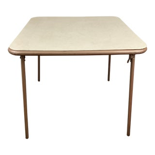 Mid-Century Modern Cosco Stylaire Folding Card Table For Sale
