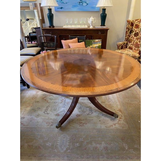 1920s Traditional Round Mahogany Dining Table For Sale - Image 4 of 12