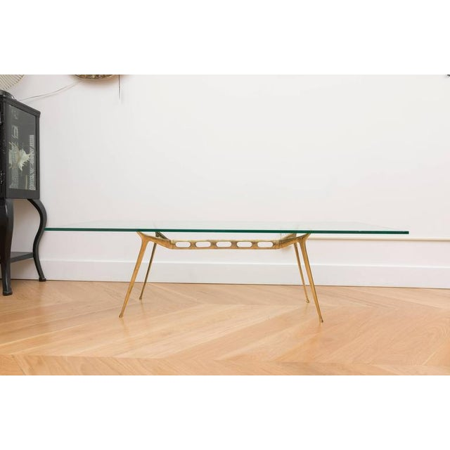 Brass Italian Brass Cocktail Table For Sale - Image 7 of 8