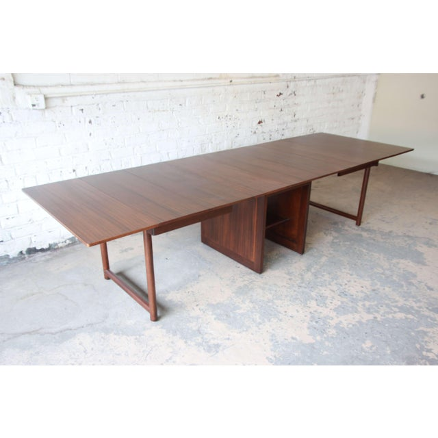 Mid-Century Modern Large Edward Wormley for Dunbar Mahogany Extension Dining Table For Sale - Image 3 of 13