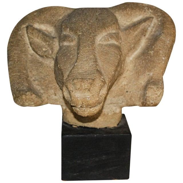 Richmond Professional Institute Limestone Ram's Head Sculpture - Image 9 of 9
