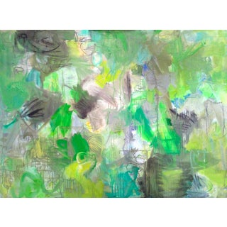 """In the Woods"" by Trixie Pitts Large Abstract Expressionist Oil Painting For Sale"