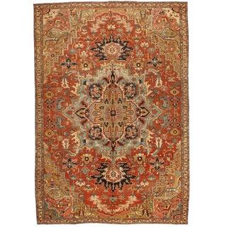 Antique 19th Century Persian Serapi Carpet For Sale