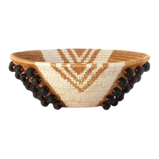 Envelope Medium Basket Ochre/cream/black For Sale