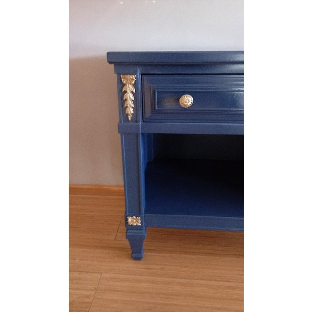 Drexel San Remo High Gloss Blue Nightstand - Image 2 of 6