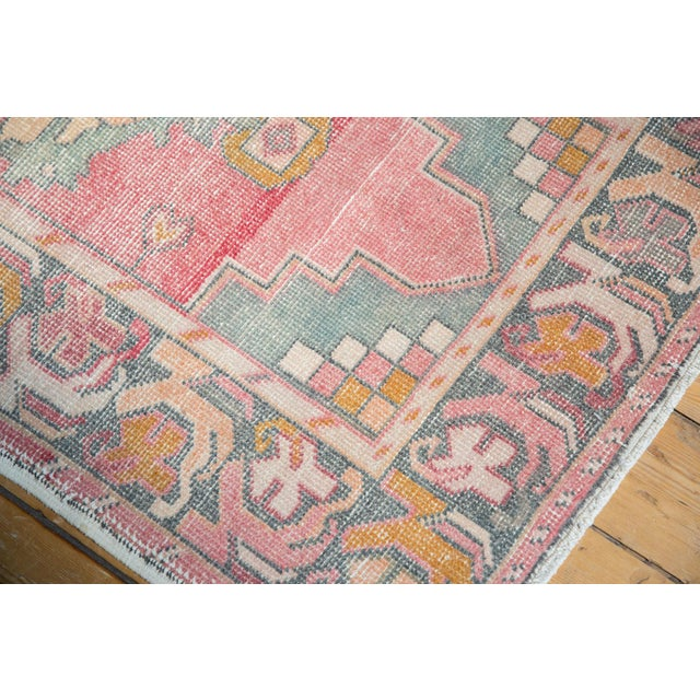 "Vintage Distressed Oushak Rug Runner - 3' X 9'8"" For Sale - Image 10 of 12"