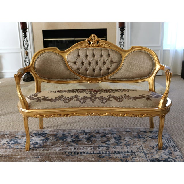 Contemporary Louis XV Loveseat For Sale - Image 3 of 8
