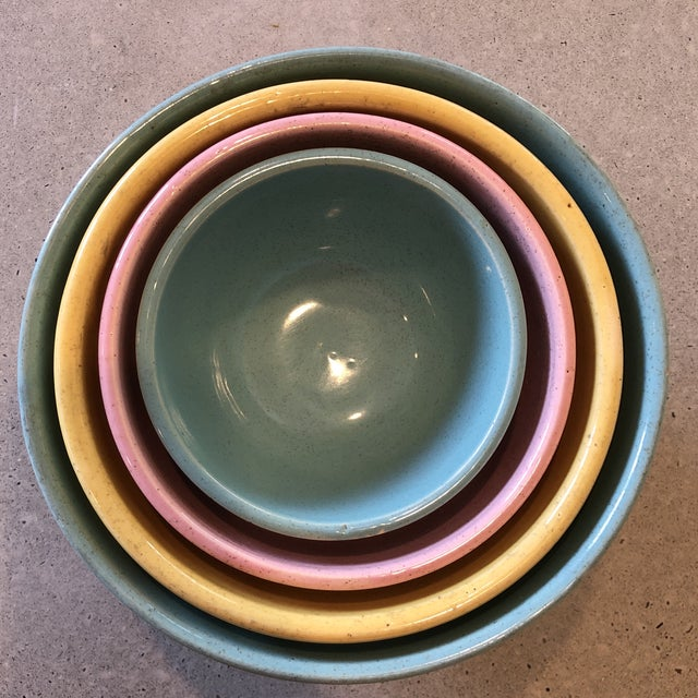 1958 McCoy Pottery Nesting Mixing Bowls - Set of 4 For Sale In Philadelphia - Image 6 of 8