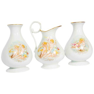 Antique Limoges Porcelain Vanity Set For Sale