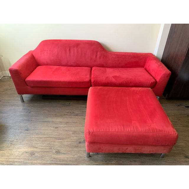 Pilvi sofa by Dellarobbia. Italian made sofa and ottoman, purchased back in 2006 in Vancouver, Canada! This sofa has a...
