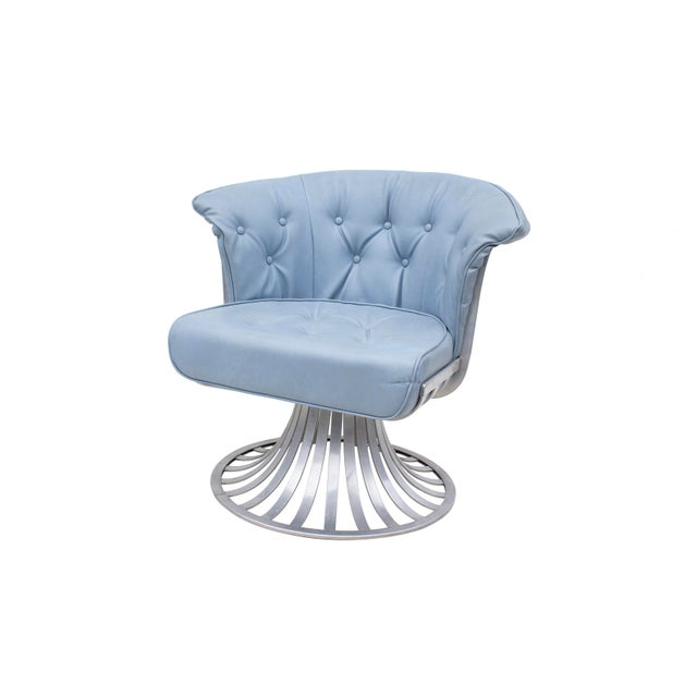 Set of 4 Aluminum Tulip Chairs by Russsell Woodard For Sale - Image 6 of 10