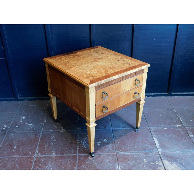Traditional 1960s Classic Wooden End Table For Sale - Image 3 of 11