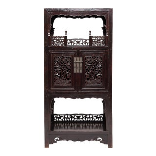 19th Century Chinese Trailing Vine Display Cabinet For Sale