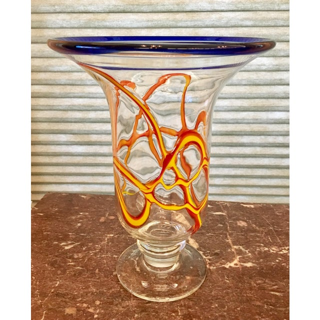 Primary Color Art Glass Vase - Image 2 of 9