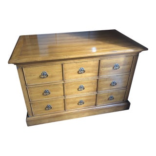 English Traditional Oversized Maple Chest For Sale