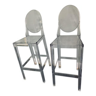 Modern Philippe Starck for Kartell One More Barstools- A Pair For Sale