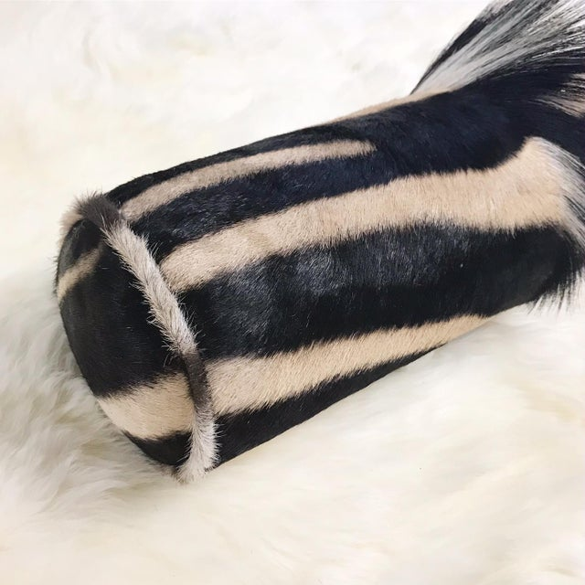 Forsyth zebra hide pillows are simply the best. The most beautiful hides are selected, hand cut, hand stitched, and hand...