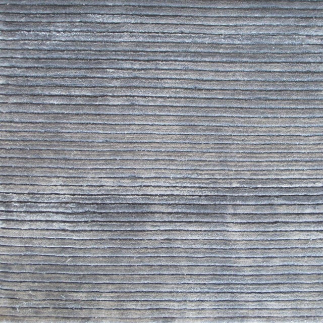 Contemporary Striped Gray Rug (12x15) For Sale In Los Angeles - Image 6 of 6