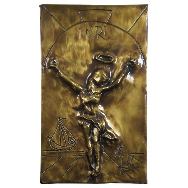 1979 Salvador Dali Christ of Saint John of the Cross Bas Relief Bronze Plaque For Sale - Image 13 of 13