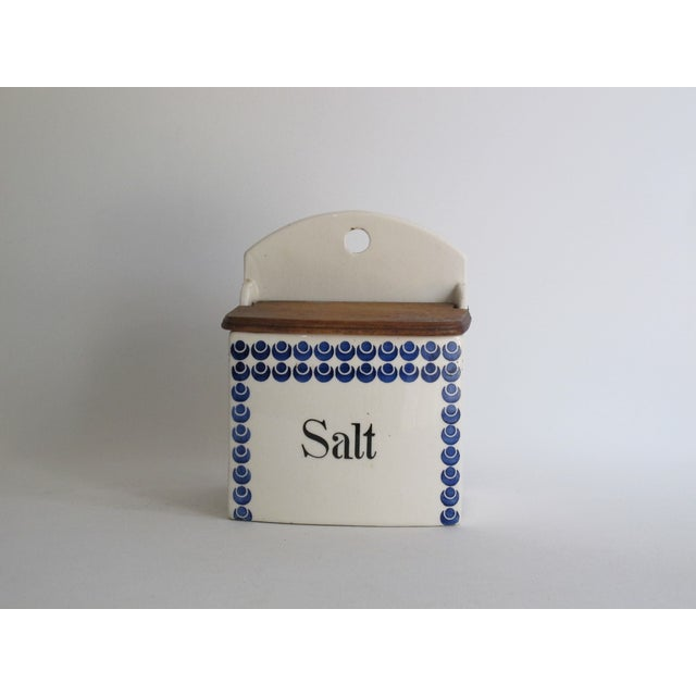 German Blue and White Salt Cellar - Image 2 of 7