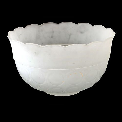 12pc Mid-Century Frosted Glass Punch Bowl & Cups - Image 6 of 6