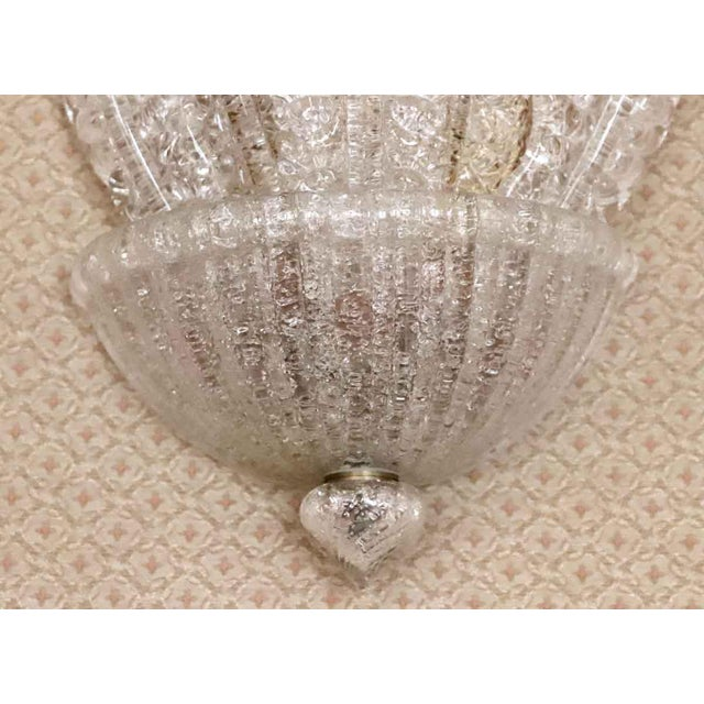 Mid 20th Century Waldorf Deco Barovier & Toso Italian Venetian Sconce For Sale - Image 5 of 8