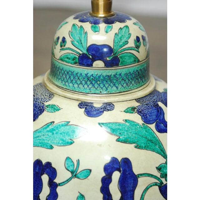 Marbro Italian Ceramic Faience Table Lamp - Image 3 of 9