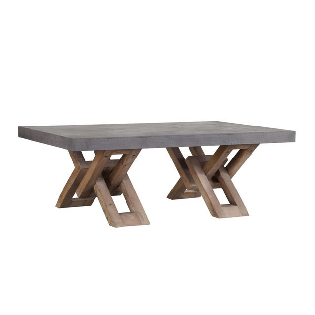 Contemporary Cement Top Coffee Table For Sale - Image 3 of 3