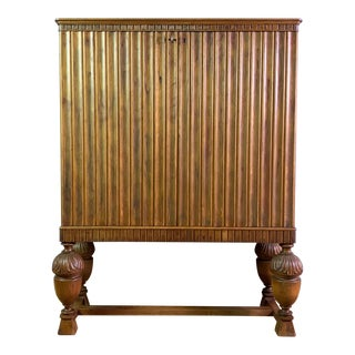 Late 1920s Belgian Baroque Cabinet on Stand For Sale