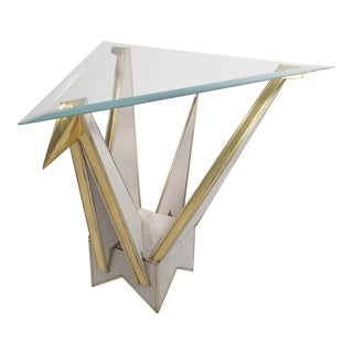 Origami Swan Side Table by MarGian Studio For Sale