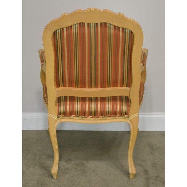1990s Ethan Allen Home Collection Louis XV Style Armchair Made in Italy For Sale - Image 5 of 13