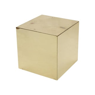 Curtis Jere Signed Brass Cube Side Table
