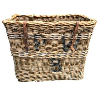 Early 20th Century French Vineyard Basket For Sale