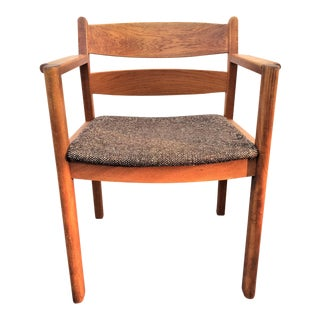 Danish Modern Teak Arm Chair For Sale