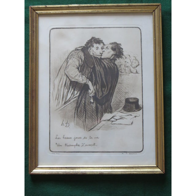 Signed Honore Daumier Caricatures - Set of 3 - Image 6 of 11