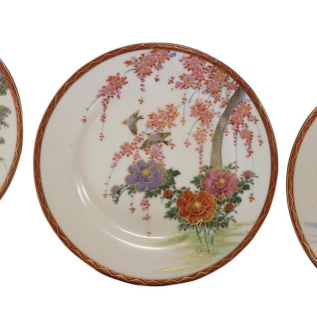 Vintage Fine China Porcelain Dining Plates - Set of 9 - Image 2 of 6