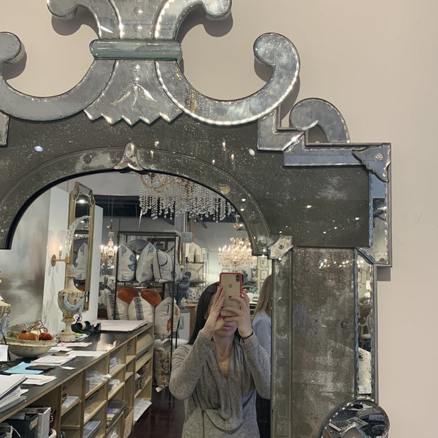 Antique Venetian Wall Mirror For Sale In Houston - Image 6 of 13