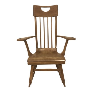 1940s Arts & Crafts Sikes Wood Rocking Chair For Sale