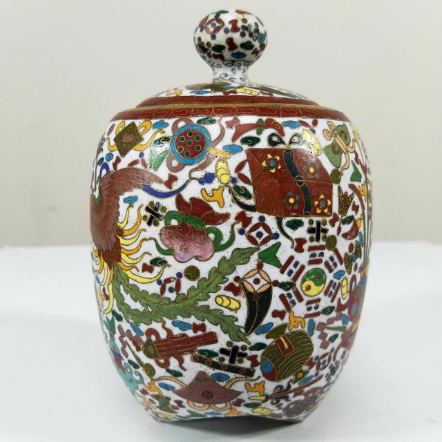 Absolutely insanely gorgeous Chinese Cloisonne, very old and very rare with legs to stand. No damage at all !!! it...